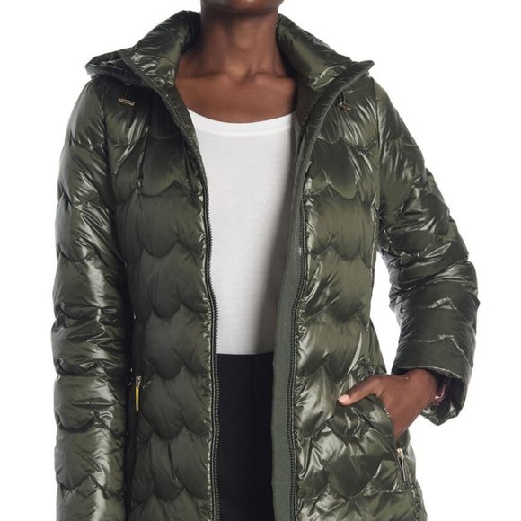 NEW kate spade new york down scallop coat